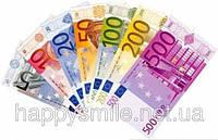 Деньги сувенирные 500, 200, 50 и 20 евро