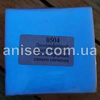 Полимерная глина Пластишка, №0504 синий люминофорный, фосфоресцентный 75 г / Полімерна глина Пластішка №0504