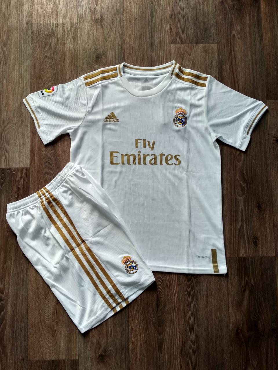 Детская футбольная форма Реал Мадрид сезон 2019-2020 основная белая