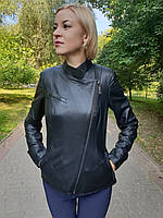 Женская кожаная черная куртка, фото 1