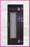 Двери входные металлопластиковые с окном и ковкой, фото 2
