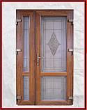 Двери входные металлопластиковые с окном и ковкой, фото 7