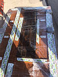 Двери входные металлопластиковые с окном и ковкой, фото 9