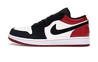 Баскетбольные кроссовки Nike Air Jordan 1 Low Black Toe White/Black/Gym Red