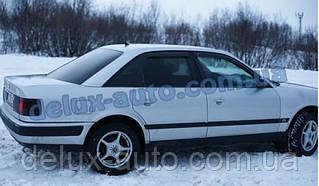 Ветровики Cobra Tuning на авто Audi 100 Sd 4AC4 1990-1994 Дефлекторы окон Кобра для Ауди A6 седан 1990-1997