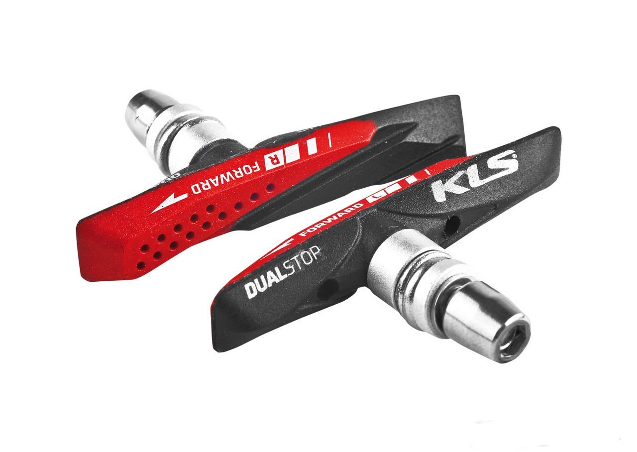 Колодки гальмівні KLS Dualstop V-02 для V-Brake