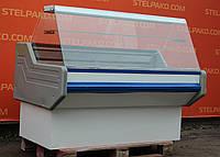 Холодильная витрина колбасная «Ремхладомонтаж ВХСК» 1.5 м. (Украина), LED - подсветка, Б/у, фото 1