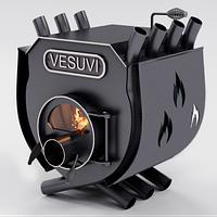Отопительная печь Булерьян VESUVI с варочной поверхностью со стеклом , перфорацией тип 01 (до 250 м3)