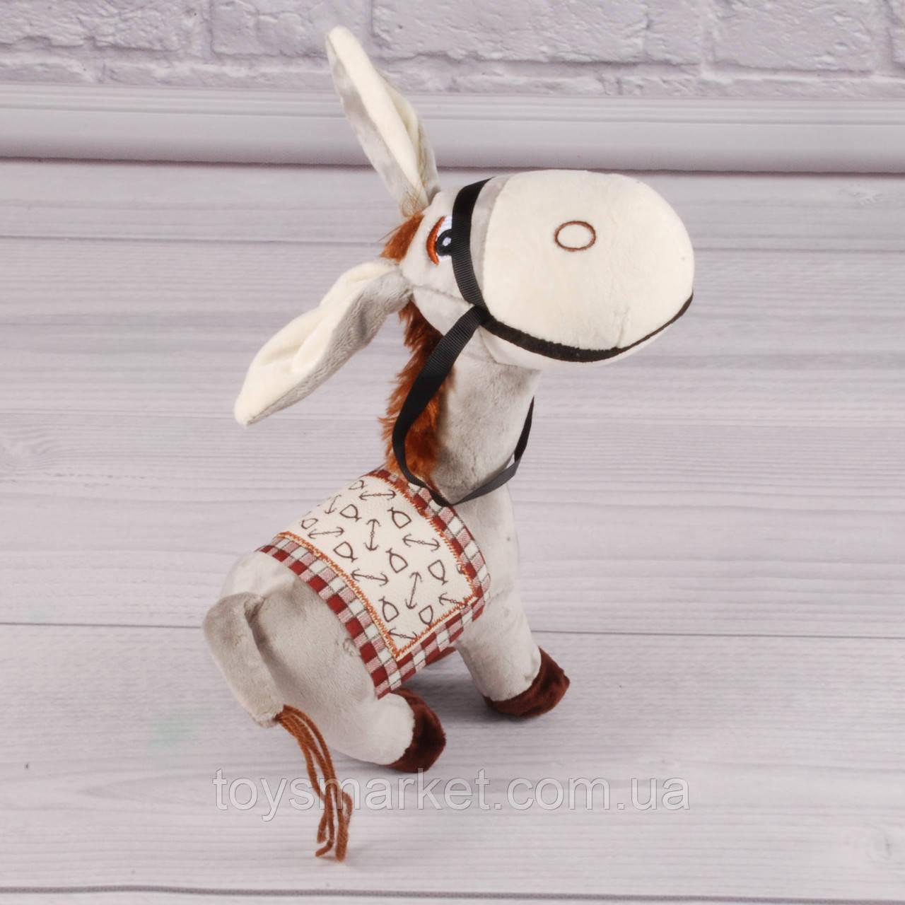 Мягкая игрушка Ослик, плюшевая игрушка осел, осёл, плюшевый ослик 25 см