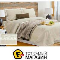 Комплект постельного белья Евро 210х220 см лен, хлопок светло-желтый Беларускілён 17с281 евро сорт 1, 0/330