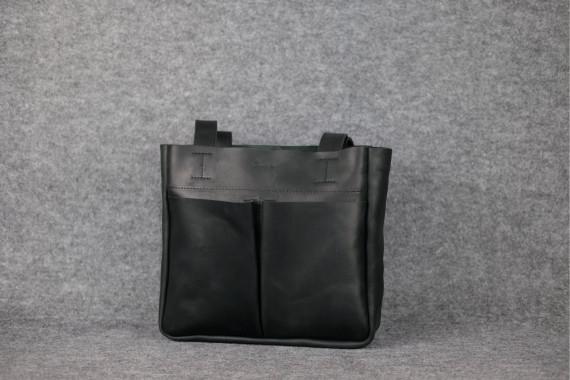 """Женская сумка """"Модель №33"""" Винтажная кожа цвет Черный"""