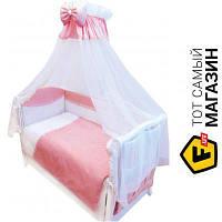 Комплект постельного белья для новорожденных 90x120 см хлопок розовый Twins Magic Sleep 8пр. (М-004)