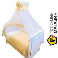 Комплект постельного белья для новорожденных 90x120 см хлопок оранжевый Twins Magic Sleep M-002, 8пр.