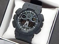 Casio G-Shock ga-100 спортивные наручные часы черного цвета с черным циферблатом, фото 1
