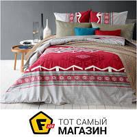 Комплект постельного белья полуторный 153x215 см хлопок красный Блакит Легенда полуторный (4131/4898-01, 4579-05)