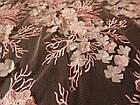 Сетка с вышивкой (цветы 3D), фото 3