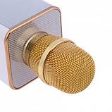 Беспроводной микрофон-караоке Bluetooth Q9 Karaoke с чехлом Gold, фото 4