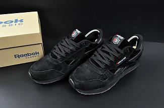 Мужские Кроссовки Reebok Classic арт 20620 (мужские, черные, рибок), фото 3