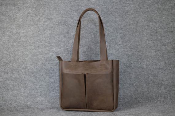 """Женская сумка """"Модель №33"""" Винтажная кожа цвет Шоколад"""