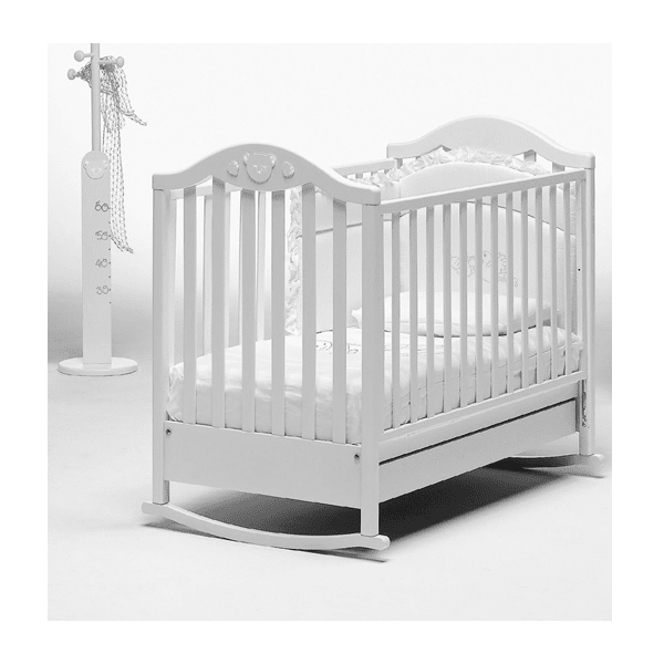 Кроватка Baby Italia Didi White 132х77 белая, дерево бук