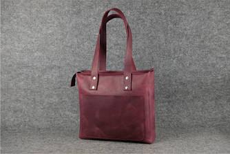 """Женская сумка """"Шоппер мини"""" Винтажная кожа цвет Бордо"""