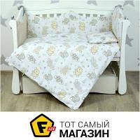 Комплект постельного белья для новорожденных 100х130 см хлопок кремовый Veres Kiwi бежевый (220.04)