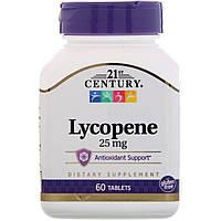Ликопин (Lycopene), 21st Century, 25 мг, 60 таблеток