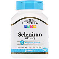 Селен, Selenium, 21st Century, 200 мкг, 60 капсул
