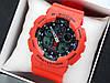 Casio G-Shock ga-100 спортивные наручные часы красного цвета с черным циферблатом