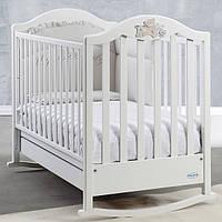 Кроватка Baby Italia Fiocco White 132х77 белый, дерево бук