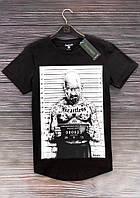 Летняя мужская футболка Хайзенберг из качественного хлопка в черном цвете