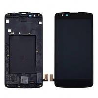 Дисплей для LG K8 К350 E/N с чёрным тачскрином