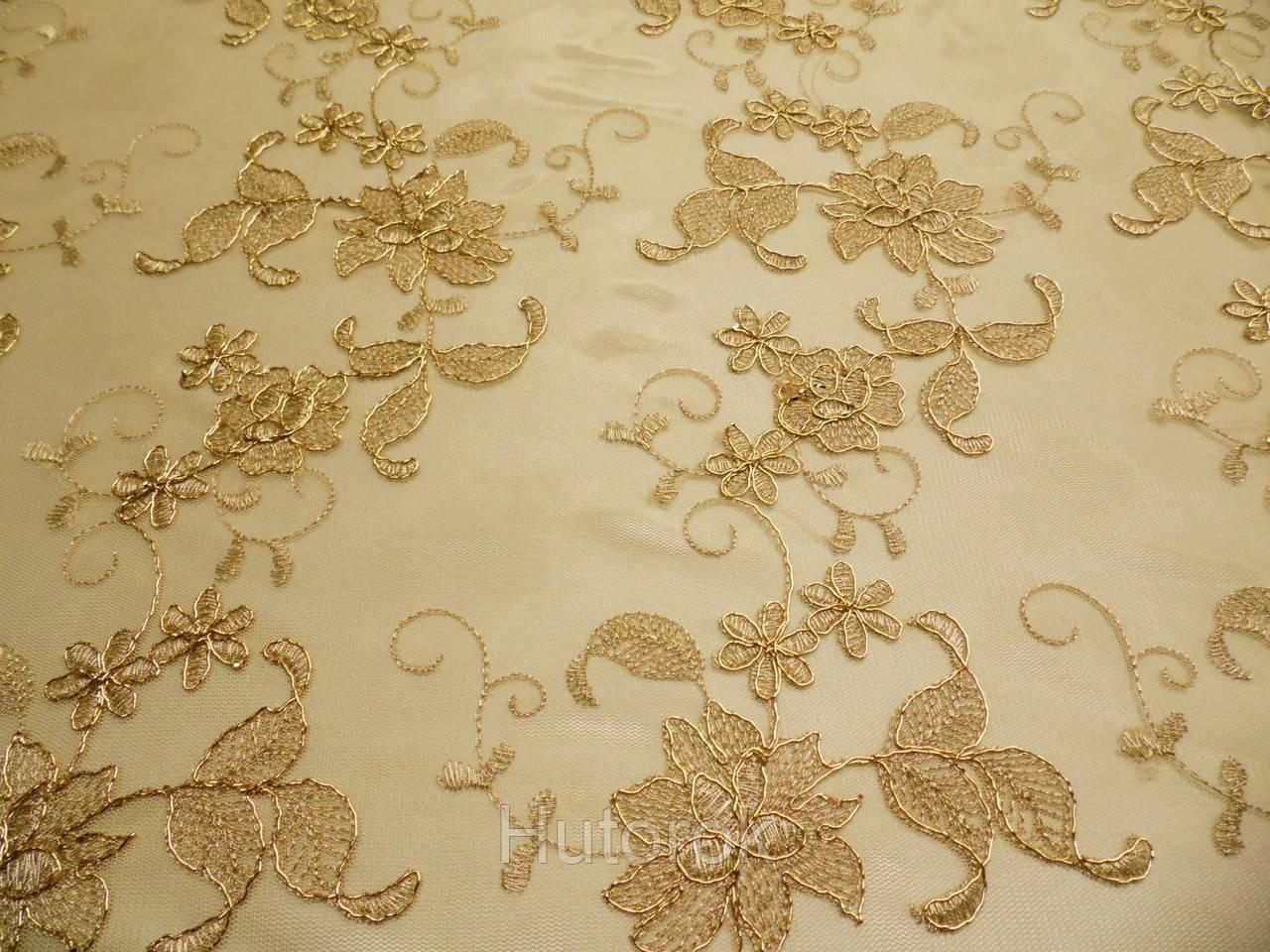 Сетка с вышивкой (цветы)