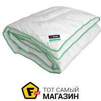 Одеяло полуторное 205 x 140 см - особо теплое - нанофайбер, тенцель (целлюлозное волокно) Sonex Tencel 140x205см (SO102100) белый, зеленый