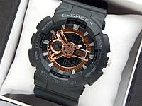 Casio G-Shock ga-110 спортивные наручные часы черного цвета с золотым циферблатом, фото 1