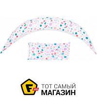 Подушка для беременных длина 180 см пенопластовые шарики белый Nuvita DreamWizard 10в1, белый (NV7100WHITE)