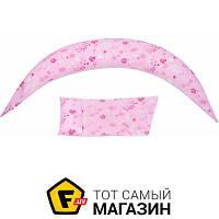 Подушка для беременных длина 180 см пенопластовые шарики розовый Nuvita DreamWizard 10в1, розовый (NV7100Pink)