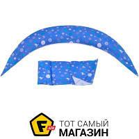 Подушка для беременных длина 180 см пенопластовые шарики синий Nuvita DreamWizard 10в1, синий (NV7100Blue)