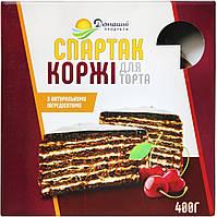 Коржі Домашні продукти 400г Спартак (шоколадні)