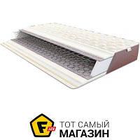 Матрас анатомический, ортопедический двуспальный ширина 180 см длина 200 см пружинный войлок, вспененный материал с ортопедическим эффектом Come-For