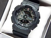 Casio G-Shock ga-110 спортивные наручные часы черного цвета с серебристым циферблатом, фото 1