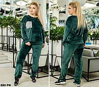 Спортивный велюровый костюм (р.48-62) 085 РФ, фото 1