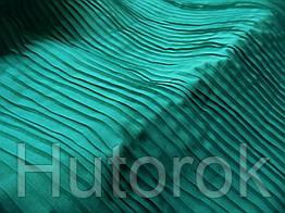 Шифон плиссированный (бирюза зеленая)