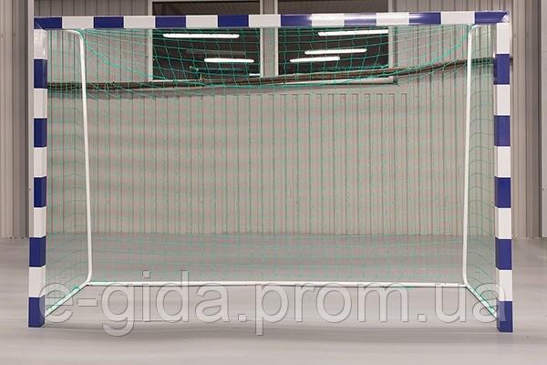Сітка гандбол/мініфутбол ПП100х3.5 ШЕСТИГРАННА (комплект 2шт)  сетка безузловая гандбольная минифутбол