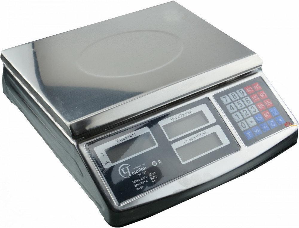 Весы электронные торговые Чемпiон 55кг CH-701
