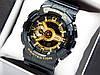 Casio G-Shock ga-110 спортивные наручные часы черные с золотым циферблатом
