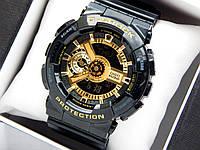 Casio G-Shock ga-110 спортивные наручные часы черные с золотым циферблатом, фото 1