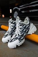 Жіночі кросівки Dior D-connect, Репліка Люкс, фото 1