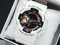 Casio G-Shock ga-110 спортивные наручные часы белого цвета с золотым циферблатом, фото 1