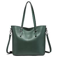Стильная сумка женская зеленая из экокожи, фото 1
